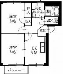 愛知県春日井市大手町の賃貸アパートの間取り