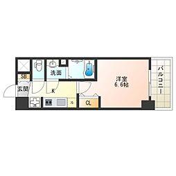 阪神なんば線 九条駅 徒歩5分の賃貸マンション 5階1Kの間取り