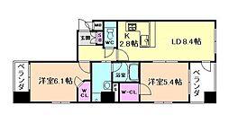 エステムプラザ梅田WEST[4階]の間取り