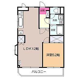 メゾン・ド・ツナキ[3階]の間取り