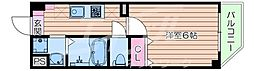 Osaka Metro谷町線 太子橋今市駅 徒歩1分の賃貸マンション 3階1Kの間取り