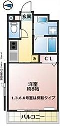 JR京浜東北・根岸線 大宮駅 徒歩12分の賃貸マンション 2階1Kの間取り