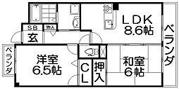 NAGOMIマンション[3階]の間取り