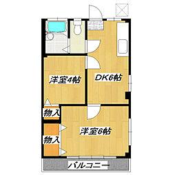 第一酒井マンション[205号室]の間取り