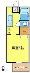 サンライフ花俣[2階]の間取り