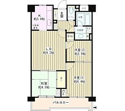東京都小金井市東町4丁目の賃貸マンションの間取り