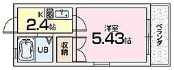 マユミハイツ枚方12番館[2階]の間取り