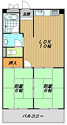ハイツOGI[4階]の間取り