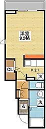長崎県長崎市滑石5丁目の賃貸アパートの間取り