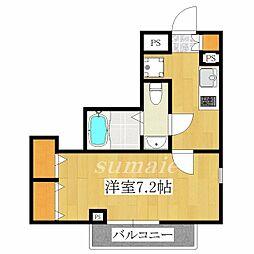 東京都北区滝野川3丁目の賃貸マンションの間取り