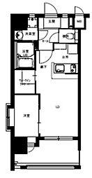 福岡市地下鉄七隈線 渡辺通駅 徒歩3分の賃貸マンション 5階1LDKの間取り
