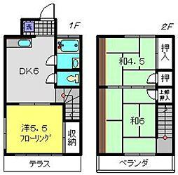 [テラスハウス] 神奈川県横浜市旭区東希望が丘 の賃貸【/】の間取り
