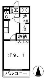 サンライフAKI II[103号室]の間取り