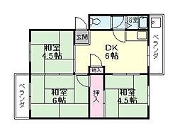 長興寺マンション[3階]の間取り