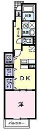 サンリット・グレイス 1階1DKの間取り