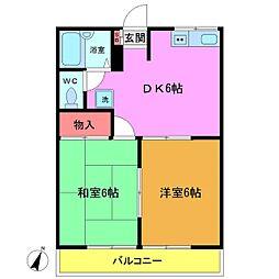 カームハイツ第3[1階]の間取り