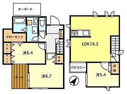[一戸建] 東京都東久留米市柳窪4丁目 の賃貸【/】の間取り