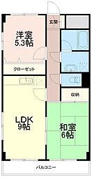 エクセル稲田[1階]の間取り