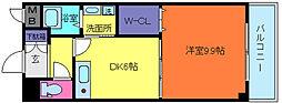 兵庫県神戸市灘区赤坂通1丁目の賃貸アパートの間取り