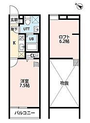 レスポワール北柏(レスポワールキタカシワ)[1階]の間取り