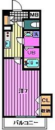 JR京浜東北・根岸線 大宮駅 徒歩8分の賃貸マンション 2階1Kの間取り