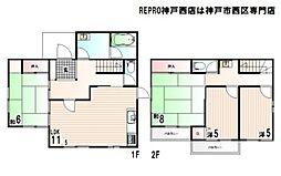 [一戸建] 兵庫県神戸市西区狩場台1丁目 の賃貸【/】の間取り