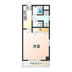 Osaka Metro四つ橋線 花園町駅 徒歩6分の賃貸マンション 9階1Kの間取り