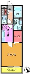 千葉県船橋市宮本8丁目の賃貸アパートの間取り