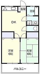 サンハウス青葉台[2階]の間取り