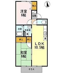 セレーノ岡本 A[102号室]の間取り