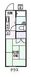 フラッツ京明[105号室]の間取り