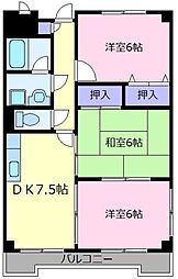 ハイツ田井城[2階]の間取り