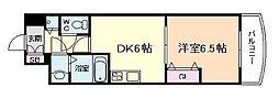 ノルデンタワー天神橋[4階]の間取り