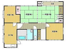 梅ヶ丘アパート[1号室]の間取り