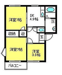 ファミールK2[2階]の間取り