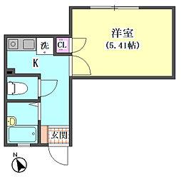 仮)大田区東矢口3丁目1410新築アパート[102号室]の間取り