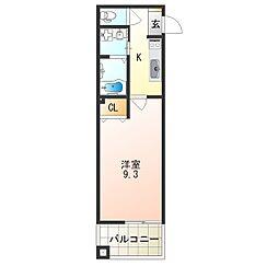 レクラン七道[5階]の間取り
