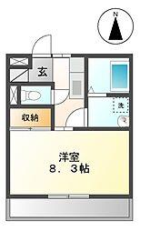 リバーサイド松島[101号室]の間取り