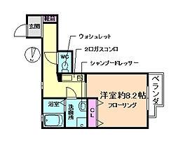 大阪府豊中市曽根西町3丁目の賃貸アパートの間取り
