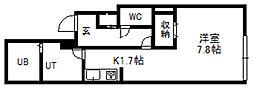 ファランドール幌平橋[202号室]の間取り