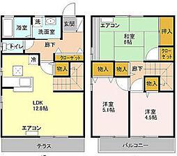 [テラスハウス] 東京都小平市小川町2丁目 の賃貸【/】の間取り
