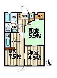 インプレス鎌倉[106号室]の間取り