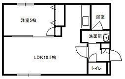 HalleyView東札幌(ハレービュー)[302号室]の間取り