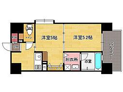 アクタス大橋ステ-ションタワ-(601)[6階]の間取り