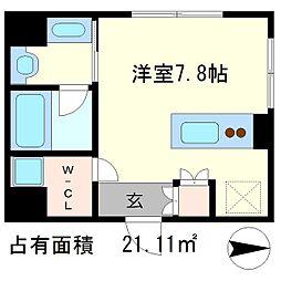 Coto Glance 鴨川別邸[5階]の間取り