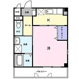 レーベン中畝 III A[1階]の間取り