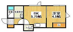 ツリーハイツ[2階]の間取り