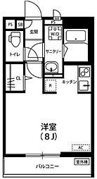 リブリ・新都心 2階ワンルームの間取り