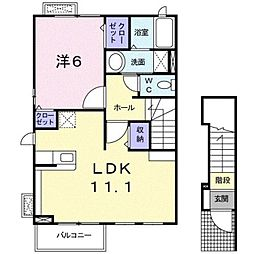 ラブリーKII[2階]の間取り