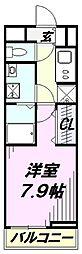埼玉県狭山市富士見2丁目の賃貸アパートの間取り
